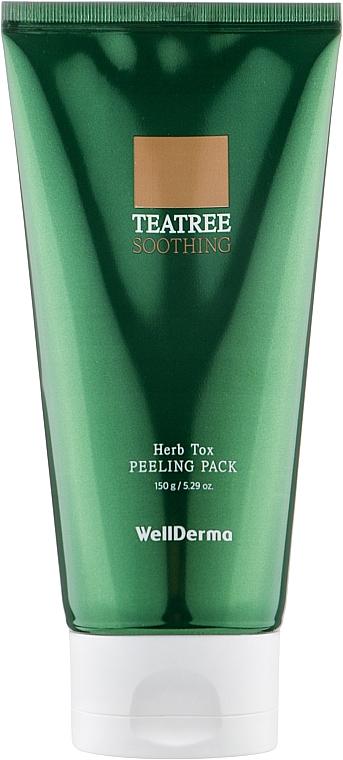 Очищающая пилинг-маска - WellDerma Chadew Teatree Herb Tox Peeling Pack