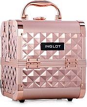 Духи, Парфюмерия, косметика Косметический кейс - Inglot Makeup Case Diamond Mini Rose Gold MB152M K107 4