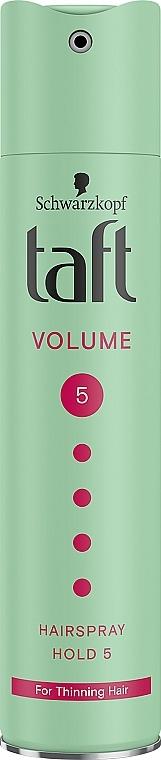 """Лак для волос """"Объем"""", мегафиксация 5 - Taft True Volume 5"""