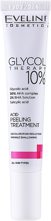 Кислотный пилинг 10% - Eveline Cosmetics Glycol Therapy Kwasowa Kuracja Peelingująca 10%