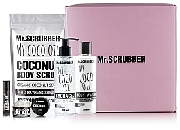"Духи, Парфюмерия, косметика Набор - Mr.Scrubber ""Coconut"" (b/scr/200 g + sh/gel/200 ml + hydragel/200 ml + scr/lips/35 g + balm/lips/5 g)"
