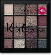 Палетка теней для век - Lamel Professional Eyeshadow 16 Shades Of Burgundy — фото N2