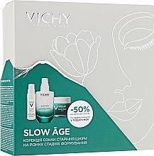 Духи, Парфюмерия, косметика Набор - Vichy Slow Age (fluid/50ml + night/cr/50ml + gel/4ml)