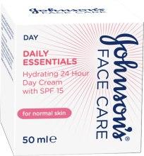 Духи, Парфюмерия, косметика Дневной увлажняющий крем для нормальной кожи с SPF 15 - Johnson's® Daily Essentials Day Cream For Normal Skin