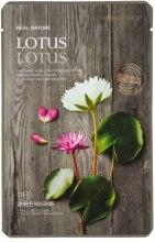 Парфумерія, косметика Маска-серветка для обличчя з екстрактом лотоса - The Face Shop Real Nature Mask Sheet Lotus