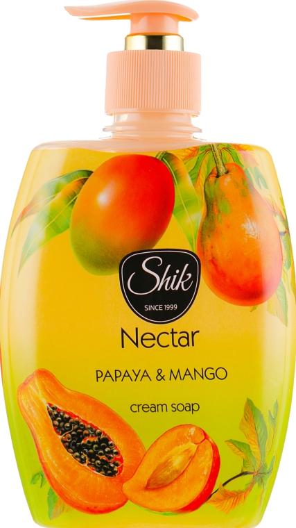 """Гель-мыло жидкое """"Папайя и манго"""", в полимерной бутылке - Шик Nectar"""