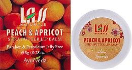 "Духи, Парфюмерия, косметика Бальзам для губ ""Абрикос и персик"" - Lass Naturals Peach & Apricot Shea Butter Lip Balm"