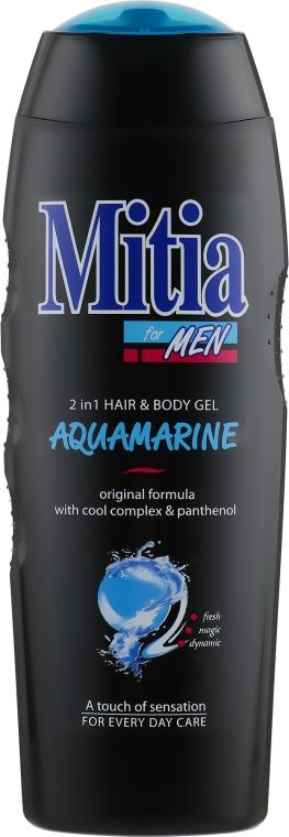 """Мужской шампунь-гель для душа 2 в 1 """"Аквамарин"""" - Mitia Aquamarine Hair and Body Gel"""