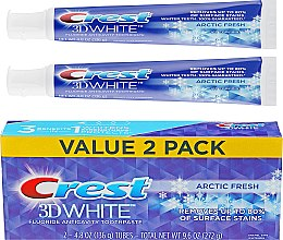 Духи, Парфюмерия, косметика Набор - Crest 3D White Arctic Fresh Icy Cool Mint (toothpaste/2x136g)