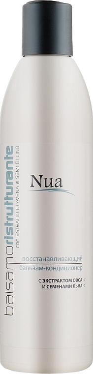 Восстанавливающий бальзам-кондиционер с экстрактом овса и семенами льна - Nua