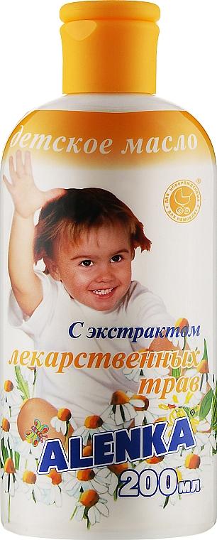 Детское масло с экстрактом лекарственных трав - Alenka