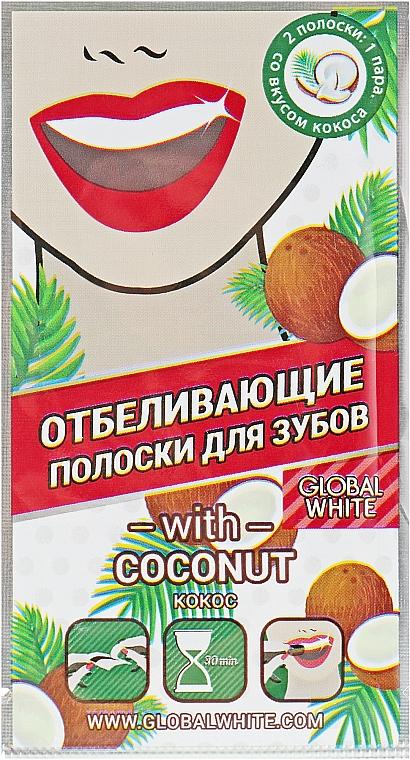"Полоски для отбеливания зубов ""Coconut strips"", 1 саше - Global White"