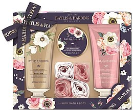Духи, Парфюмерия, косметика Набор - Baylis & Harding Royale Garden (sh/cr/200ml + b/lot/200ml + b/butter/50ml + soap/6g)