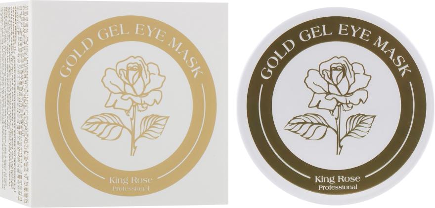 Гидрогелевые патчи для глаз антивозрастные от морщин с золотом - King Rose Gold Gel Eye Mask