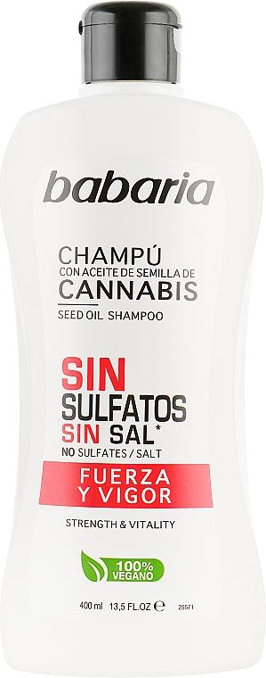 Шампунь для придания силы волосам - Babaria Cannabis Seed Oil Shampoo Strength & Vitality
