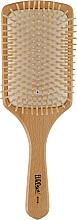 Духи, Парфюмерия, косметика Щетка деревяная для волос 01919 - Eurostil Paddle Cushion Wooden Large