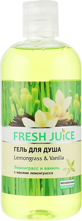 "Гель для душа ""Лемограс и Ваниль"" - Fresh Juice Sexy Mix Lemongrass & Vanilla"