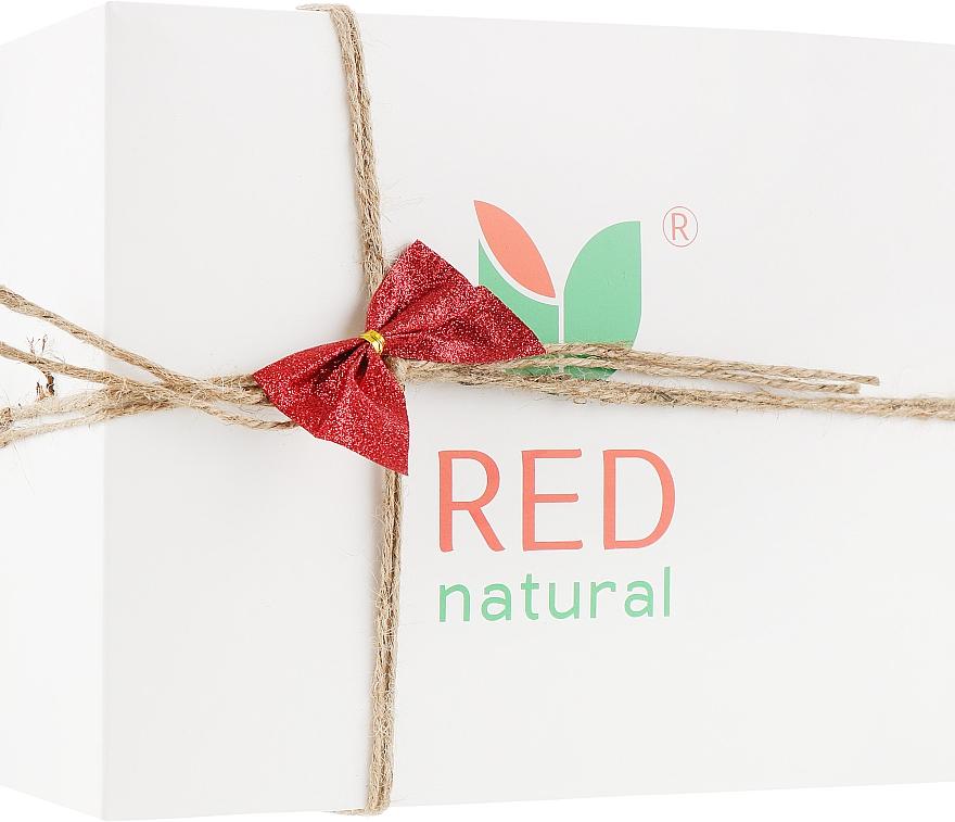 Новогодний набор № 5 - Red Natural Gift Set 5 (shm/200ml + sh/gel/200ml + toothpaste/100g + soap/250ml + soap/100g + toy + post/card)