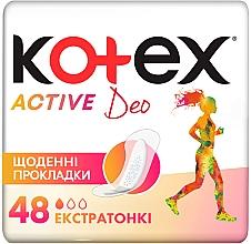 Духи, Парфюмерия, косметика Супертонкие ежедневные прокладки, 48шт - Kotex Active Deo