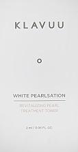 Духи, Парфюмерия, косметика Тонер для лица - Klavuu White Pearlsation Revitalizing Pearl Treatment Toner (пробник)