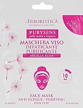 "Духи, Парфюмерия, косметика Маска для лица с розовой глиной ""Пурисенс"" - Athena's Erboristica Purysens Pink Clay Face Mask (мини)"