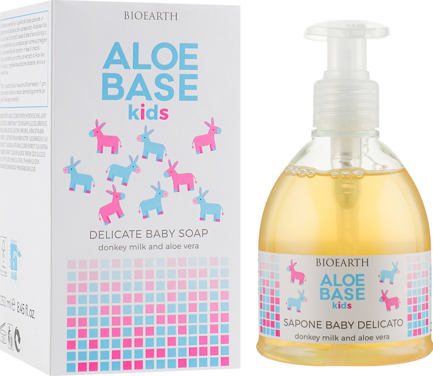 Детское нежное мыло - Bioearth Aloebase Kids Delicate Baby Soap With Aloe
