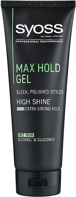 Гель для волос, максимально сильная фиксация - Syoss Max Hold