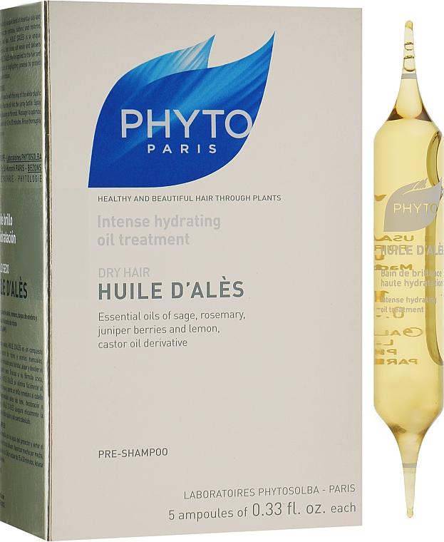 Масло Алеса для интенсивного увлажнения волос - Phyto Huile D'Ales