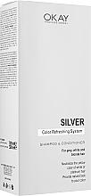 Духи, Парфюмерия, косметика Набор - Neva Okay Professional Silver Color Refreshing System (sh/300ml+cond/300ml)