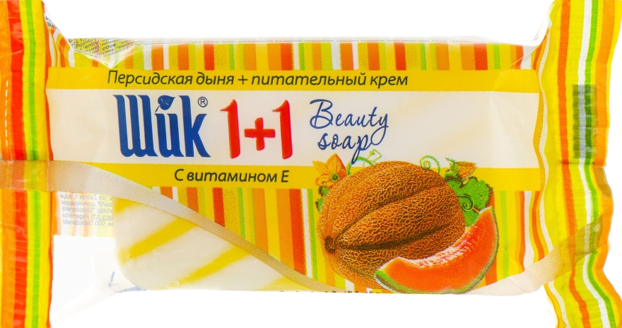 """Мыло туалетное """"1+1 Beauty. Персидская дыня и питательный крем"""" - Шик"""