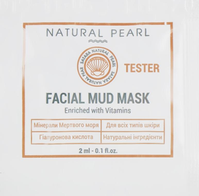 Грязевая маска для лица на основе грязей, минералов и солей Мёртвого моря - Satara Natural Pearl Facial Mud Mask (пробник)