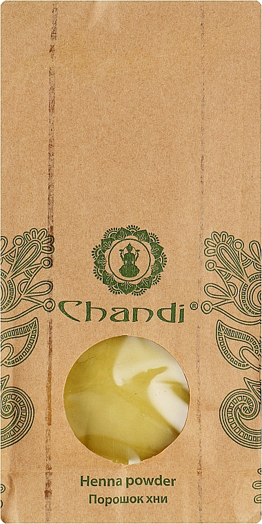 Порошок чистой хны - Chandi Natural Henna Powder Reflect
