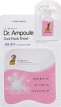 Духи, Парфюмерия, косметика Двухфазная маска для лица - Etude House Dr.Ampoule Dual Mask Sheet Luminous Care