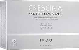 Духи, Парфюмерия, косметика Комплекс для лечения выпадения волос для женщин 1900 - Crescina Hair Follicular Island Re-Growth Anti-Hair Loss Complete Treatment 1900 Woman