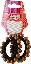 Духи, Парфюмерия, косметика Резинка для волос, HA-1163, коричневая - La Rosa
