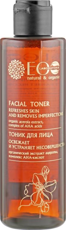 Освежающий тоник для лица на АНА-кислотах - ECO Laboratorie Facial Toner