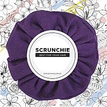 "Духи, Парфюмерия, косметика Резинка для волос трикотаж, фиолетовая ""Knit Classic"" - MakeUp Hair Accessories"