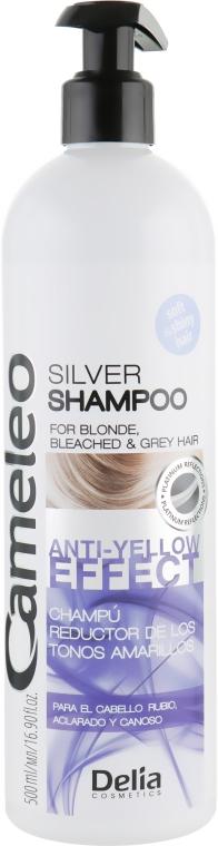 "Шампунь для волос ""Анти-желтый эффект"" - Delia Cameleo Silver Shampoo Anti-yellow Effect"