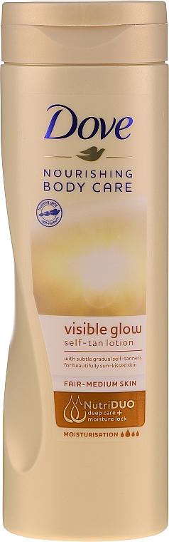 Лосьон для тела с эффектом автозагара - Dove Visible Glow Gradual Self-Tan Lotion Fair-Medium Skin