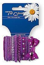 Духи, Парфюмерия, косметика Резинки для волос 12шт, фиолетовые, 22036 - Top Choice