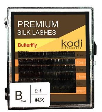Накладные ресницы темно-коричневые Butterfly B 0.10 (6 рядов: 10/11/12) - Kodi Professional — фото N1
