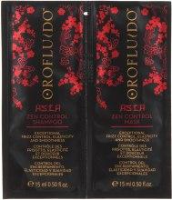 Духи, Парфюмерия, косметика Набор - Orofluido Asia Zen Control (shampoo/15ml + mask/15ml)