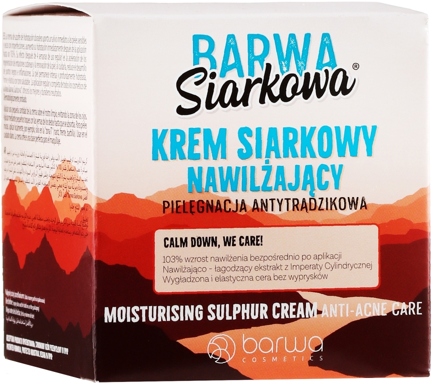 Увлажняющий крем для лица - Barwa Anti-Acne Moisturizing Face Cream