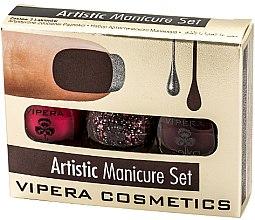 Духи, Парфюмерия, косметика Набор лаков - Vipera Set Artistic Manicure (n/pol/5,5mlx3)