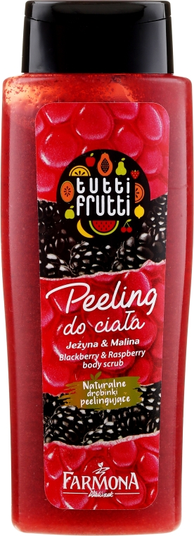 Скраб для тела с натуральными частицами ежевики и малины - Farmona Tutti Frutti Body Scrub