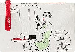 Косметичка, белая с девушкой - Clarins — фото N1