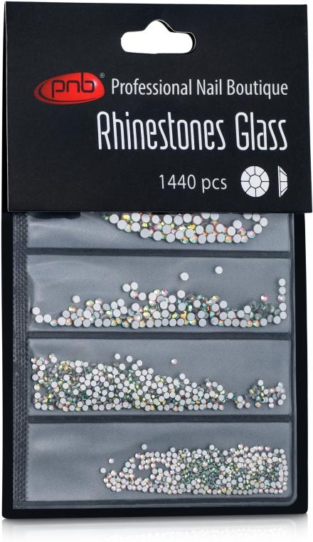 Стразы для ногтей - PNB AB Mix SS2,3,6,8,10,12 Glass