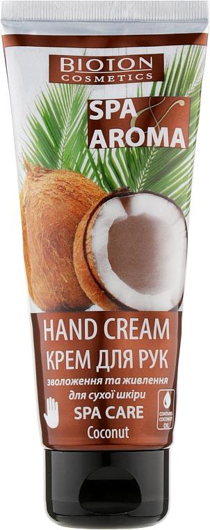 Крем для рук с кокосовым маслом - Bioton Cosmetics Spa Aroma Hand Cream