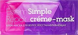 Духи, Парфюмерия, косметика Крем-маска для волос восстанавливающая - Essem Simple Care Repair Cream-Mask (пробник)