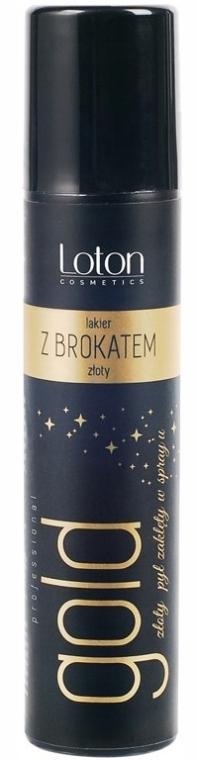 Лак для тела и волос с блестками - Loton Gold Spray